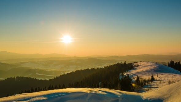 Cover Image for Sundown  in Winter Mountain