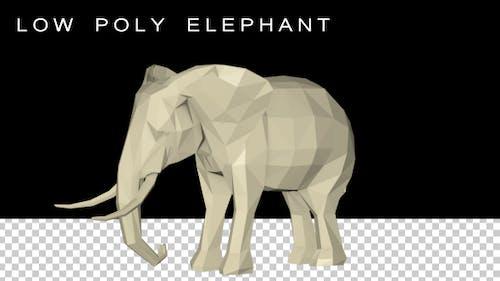 Low Poly 3D Elephant