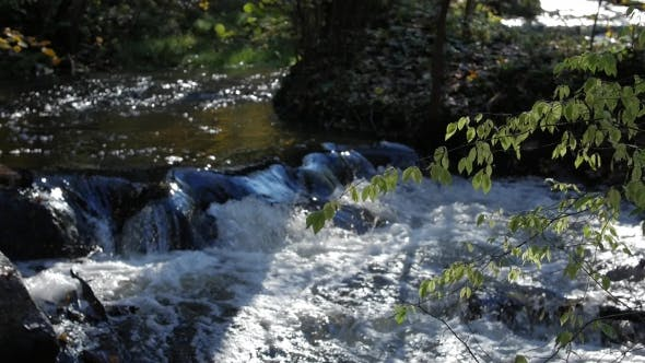 Thumbnail for River Water Flowing Through the Stones Wonderful Nature Scene of Wilderness