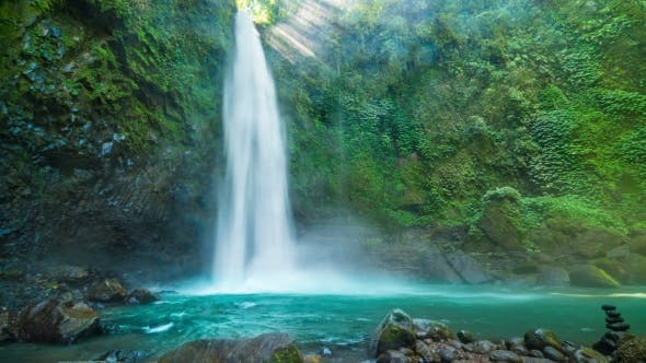 Cover Image for Wonderful Scenery of Nungnung Waterfall in Bali