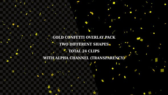 Thumbnail for Gold Confetti Overlay Pack