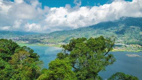 Panoramic View on Lake Lake Buyan on Bali Island
