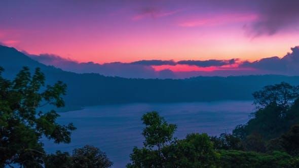 Thumbnail for Panoramic View Sunset on Lake Danau Tamblingan and Danau Buyan Bali, Indonesia