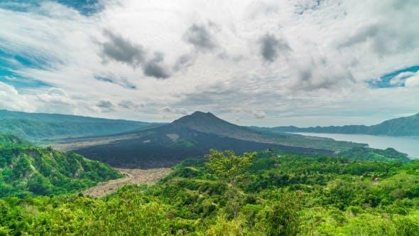 Thumbnail for Kintamani Volcano Under Blue Sky in Gunung Batur in Bali, Indonesia