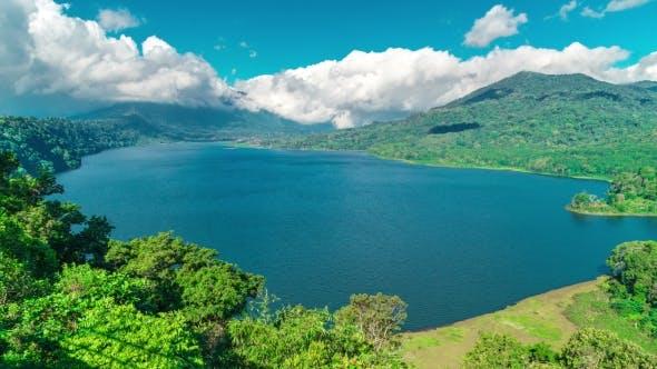 Thumbnail for Clouds on Lake Lake Buyan and Tamblingan on Bali Island