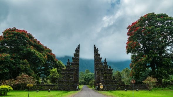 Cover Image for Gates Candi Bentar To One of the Hindu Temples in Bali in Indonesia