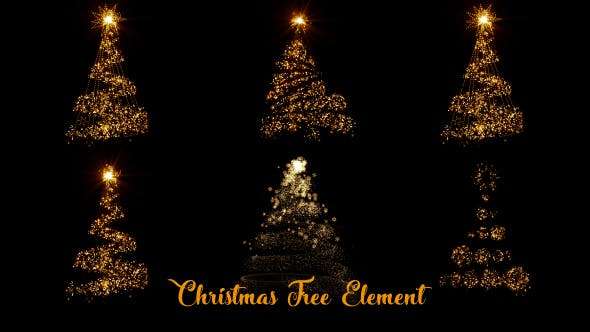 Thumbnail for Christmas Tree Sparkling Element