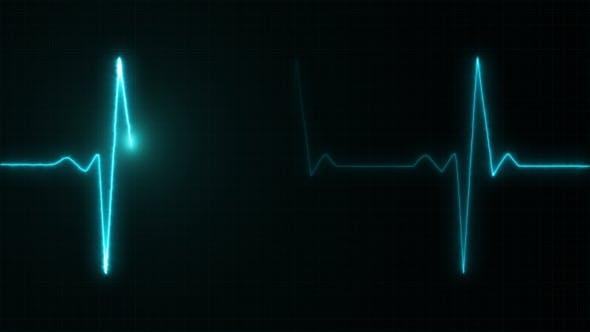 Thumbnail for Cardiogram Cardiograph Oscilloscope Screen Blue