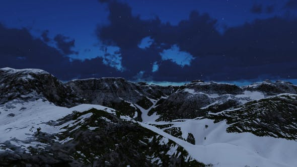 Thumbnail for Fly Over Mountain in Snow