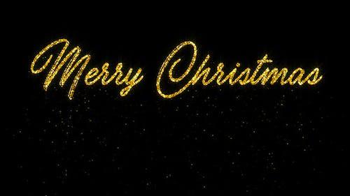 Frohe Weihnachten - Glitter Animation