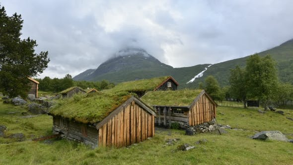 Thumbnail for Norwegian Grass Roof Old House