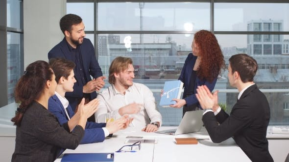 Thumbnail for Portrait of Young Business Team at Work. Bright Contemporary Small Creative Business