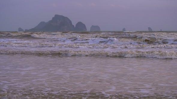 Thumbnail for Waves on Ao Nang Beach in Low Season, Krabi Province, Thailand.