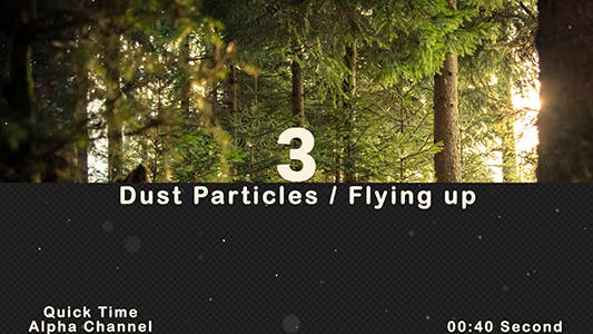 Thumbnail for Dust Particles Flying Up