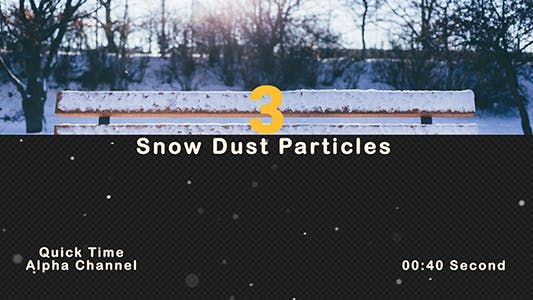 Thumbnail for Flying Snow dust Particles