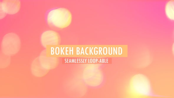 Thumbnail for Pastel Colored Bokeh Background V5
