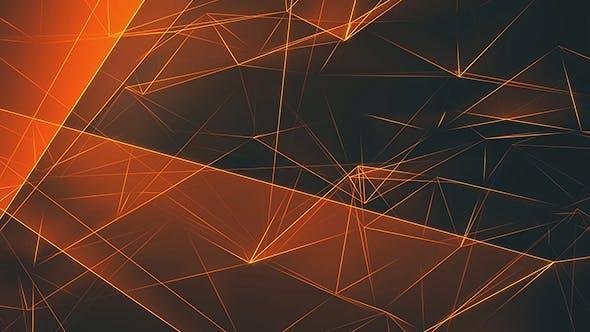 Thumbnail for Cinematic Orange Lines Polygonal Refraction