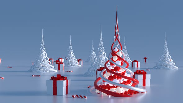 Thumbnail for Árboles de Navidad abstractos (2 en 1)