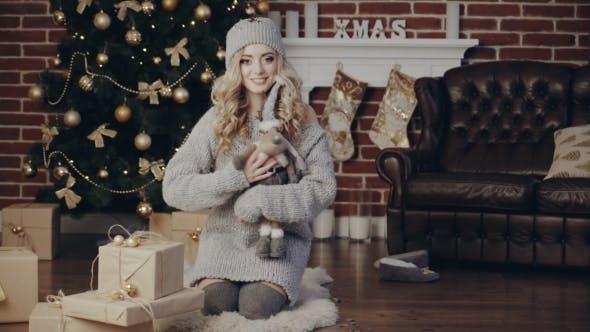 Thumbnail for Woman Celebrating Christmas