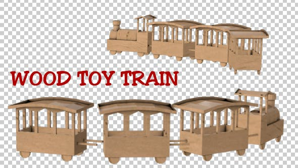 Thumbnail for Wood Toy Train