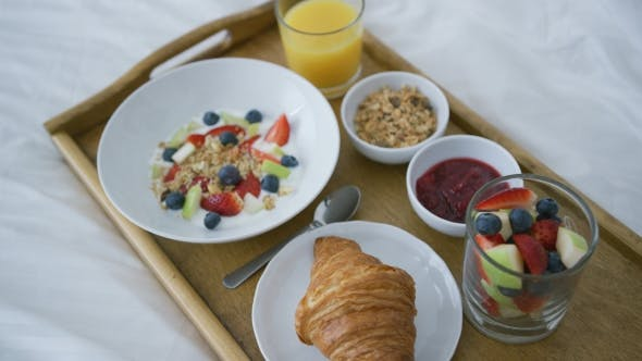 Thumbnail for Healthy Assorted Breakfast Served on Tray