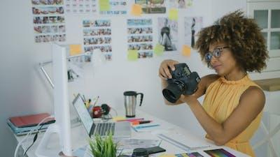 Stylish Photographer at Creative Workplace