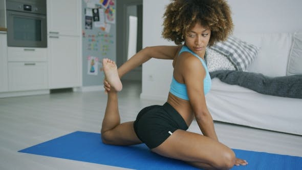 Thumbnail for Sportswoman Training at Home