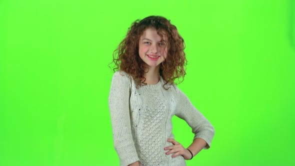 Thumbnail for Child Shows Thumbs Up. Green Screen