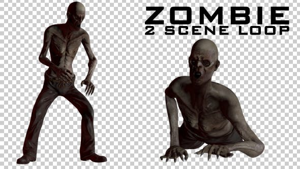 Thumbnail for Zombie - 2 Scene Loop Animations
