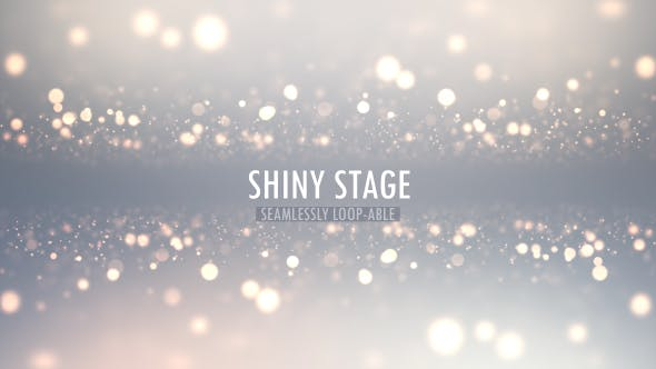 Clean Elegance White Particle Stage Background
