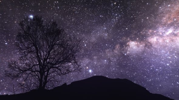 A  of a Starry Night. Elements of This Image Furnished By NASA