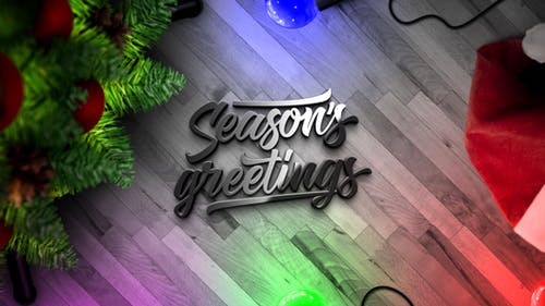 Christmas Lights Logo Reveal