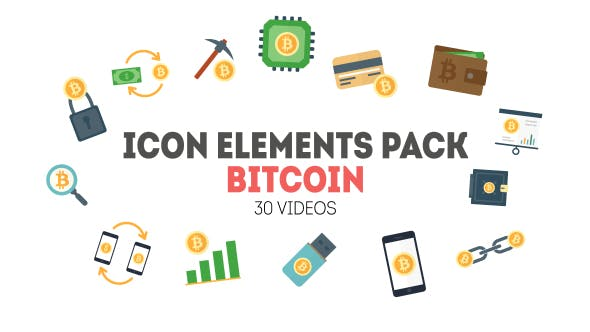 Thumbnail for Icon Elements Pack - Bitcoin
