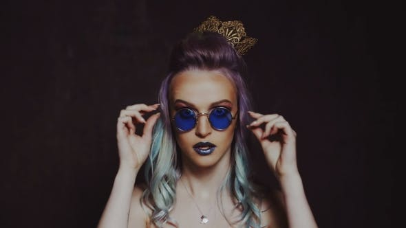 Thumbnail for Beautiful Girl with Colored Hair