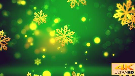 Thumbnail for Christmas Gold Snowflakes 2