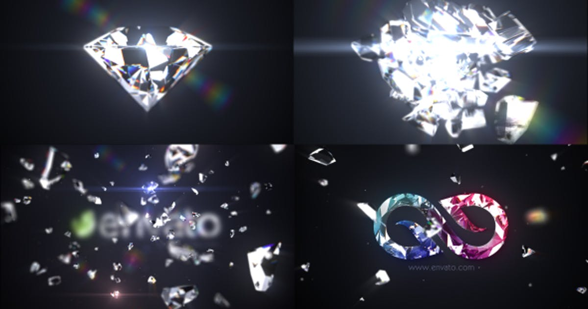 Download Shattered Diamond Logo Text Reveal by iconoclast
