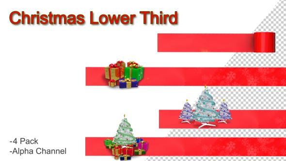Thumbnail for Christmas Lower Third
