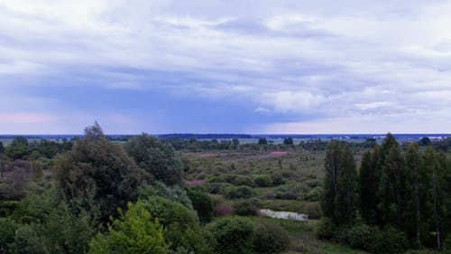 European Landscape in the Rain