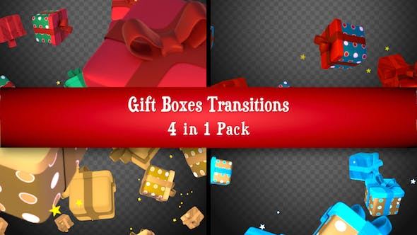 Thumbnail for Gift Boxes Transitions Pack
