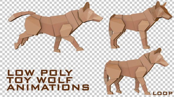 Thumbnail for Low Poly Toy Wolf Animations