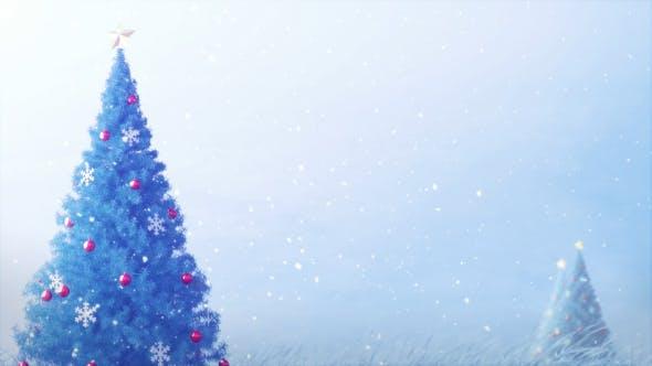 Thumbnail for Christmas Tree Blue 4K
