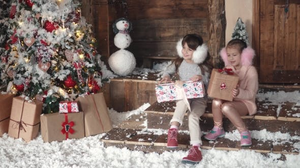Thumbnail for Children Are Looking at Presents