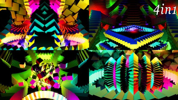 Thumbnail for Colored Stage - VJ Loop Pack (4in1)