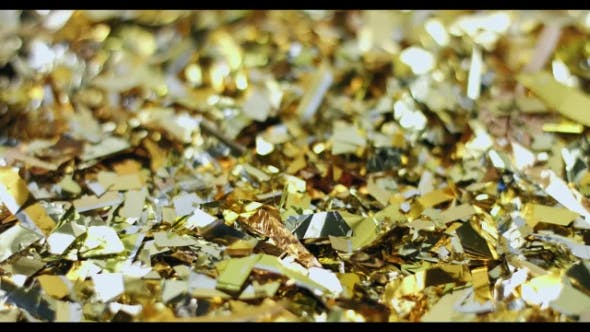 Thumbnail for Abstract Video of Golden Christmas Decorations