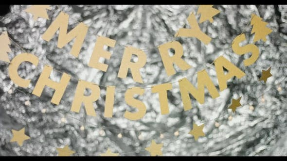 Thumbnail for Merry Christmas Sign on Abstract Background