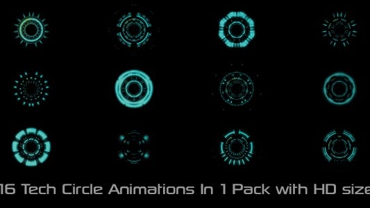 Thumbnail for Tech Circle Elements Pack 01