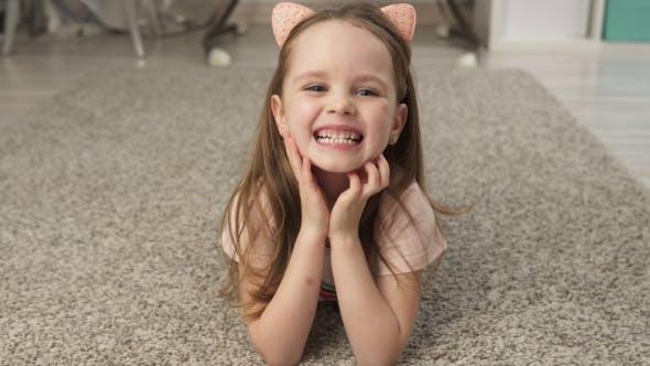 Thumbnail for Cute Little Girl Smiling
