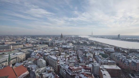 Thumbnail for Riga Down Town Cathedral Dome in Winter