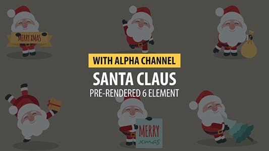 Thumbnail for Merry Christmas Santa Claus Animation Pack