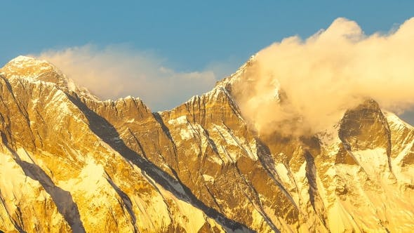 Thumbnail for of Golden Everest, Himalayas